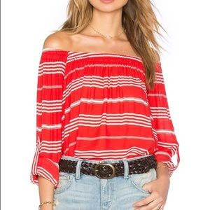 Faithful The Brand Off The Shoulder Striped Top L